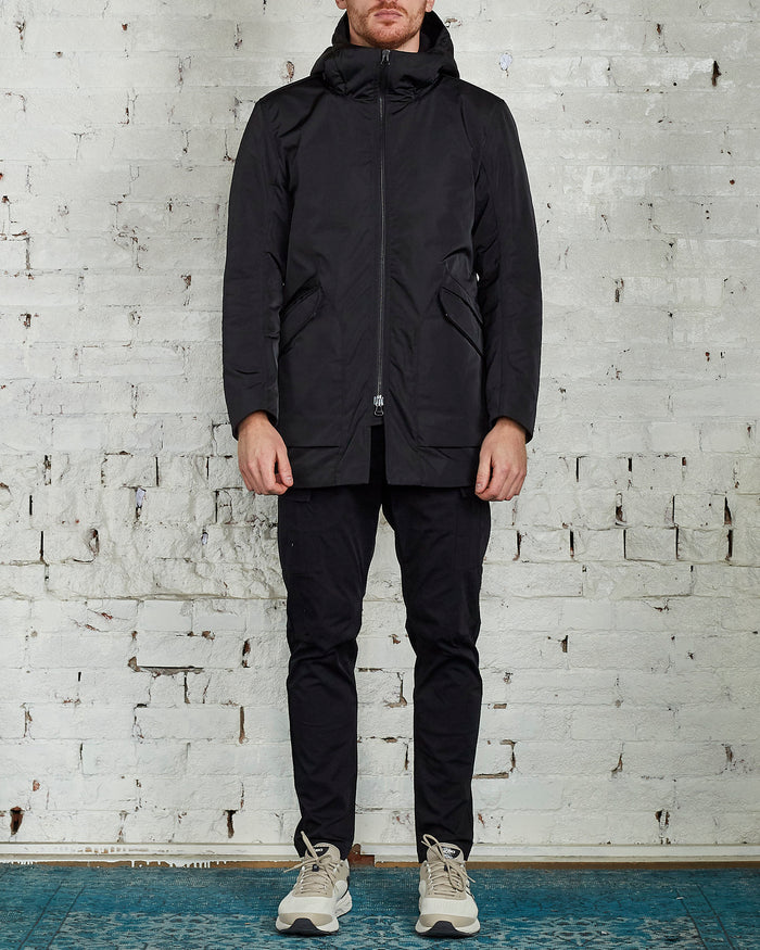 Wings + Horns Twill Shearling Jacket Black