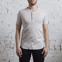 Wings + Horns Base Henley Heather Ash