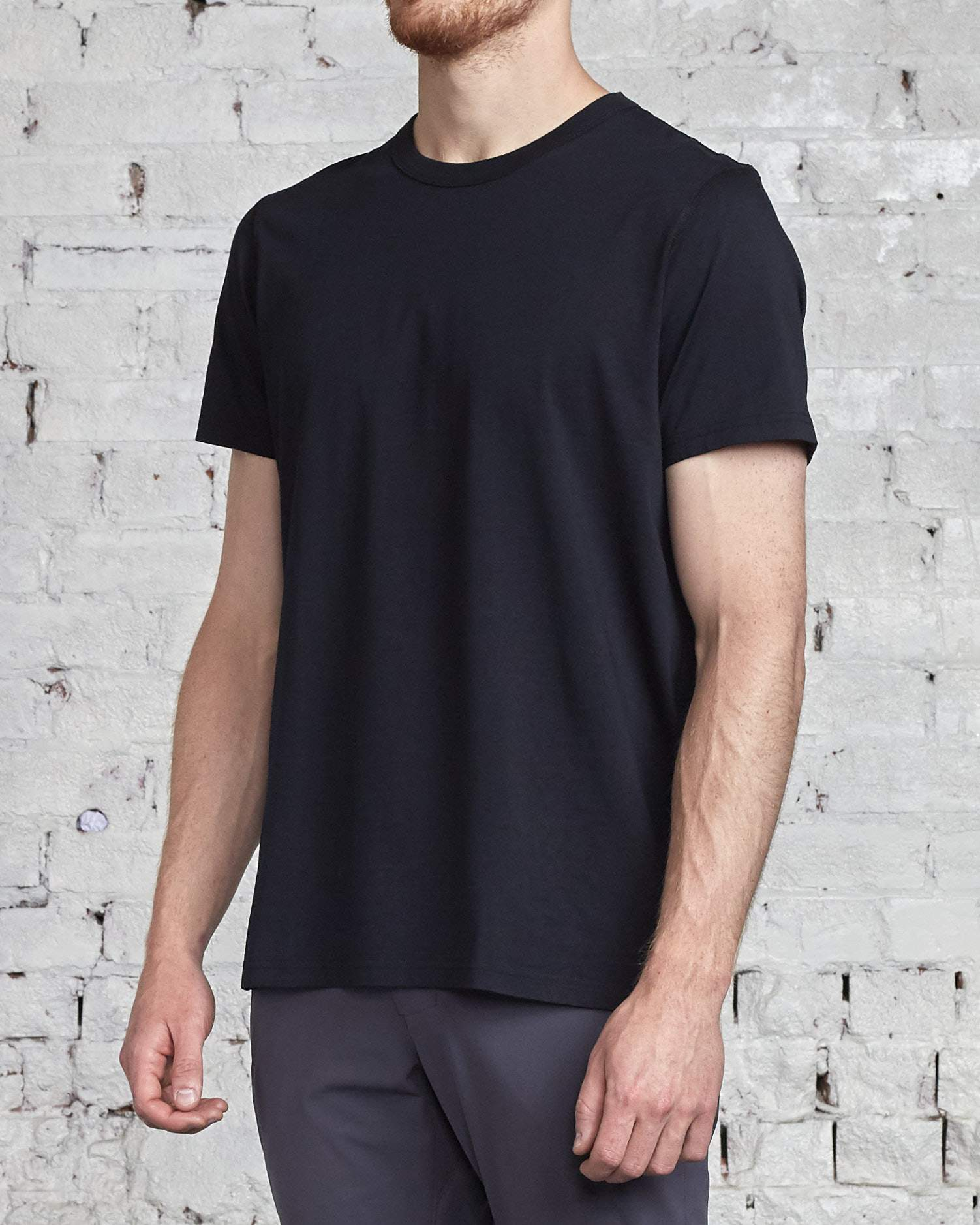 Reigning Champ 2-Pack T-Shirt Black-LESS 17