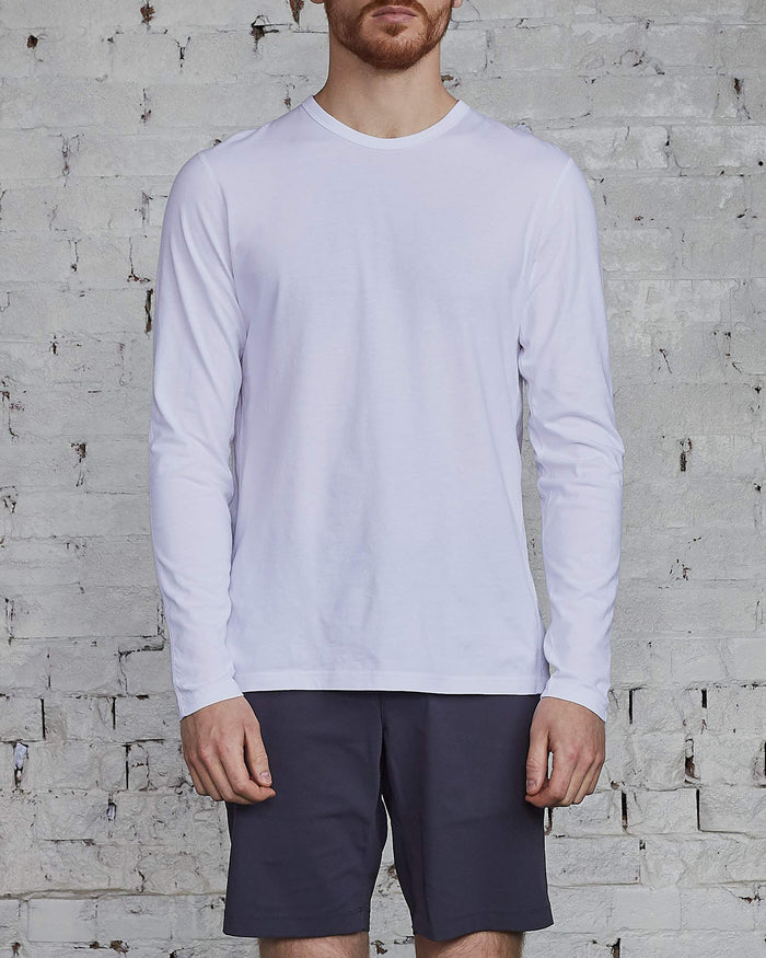 Reigning Champ Ringspun Long Sleeve T-Shirt White-LESS 17