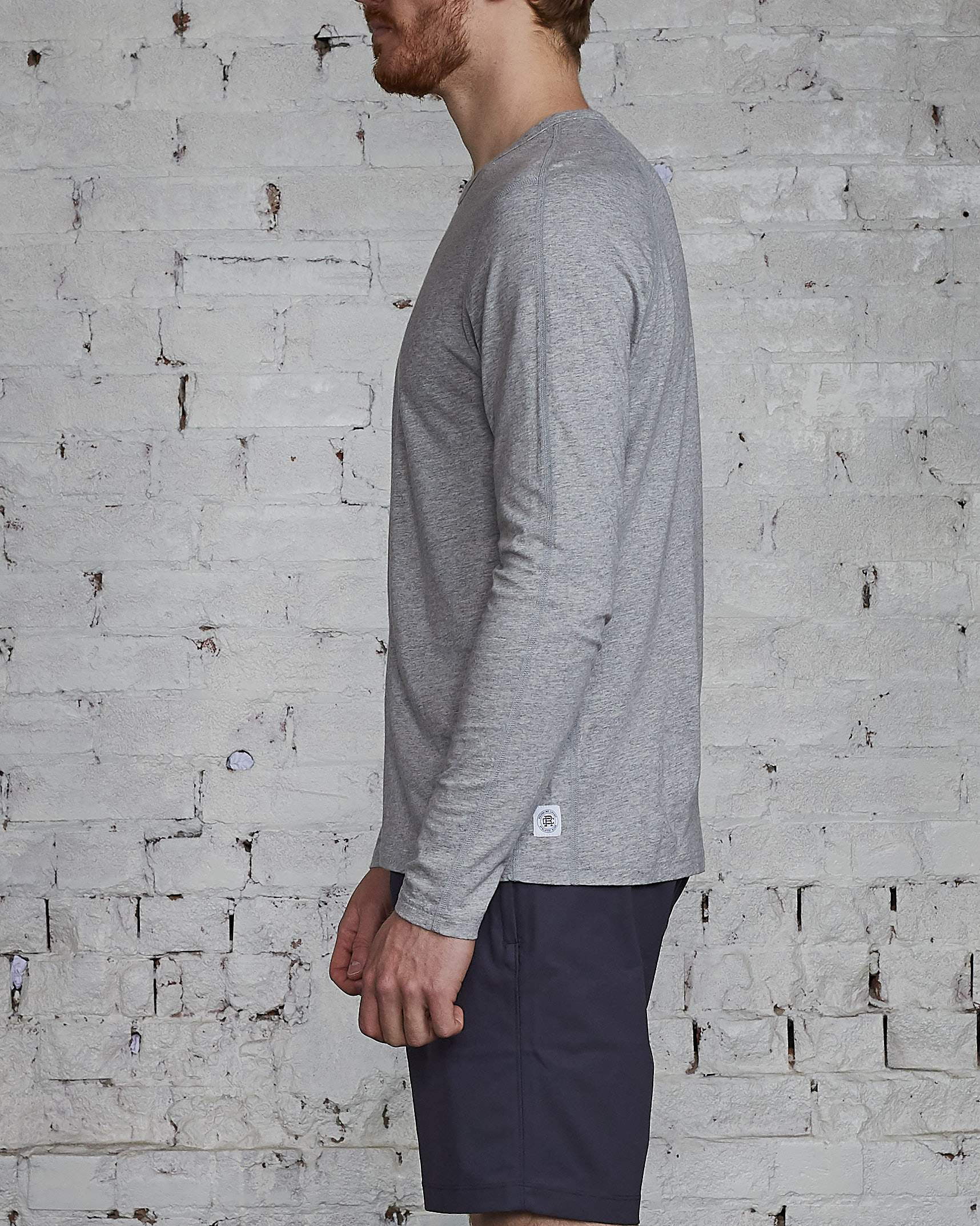 Reigning Champ Ringspun Long Sleeve T-Shirt Heather Grey