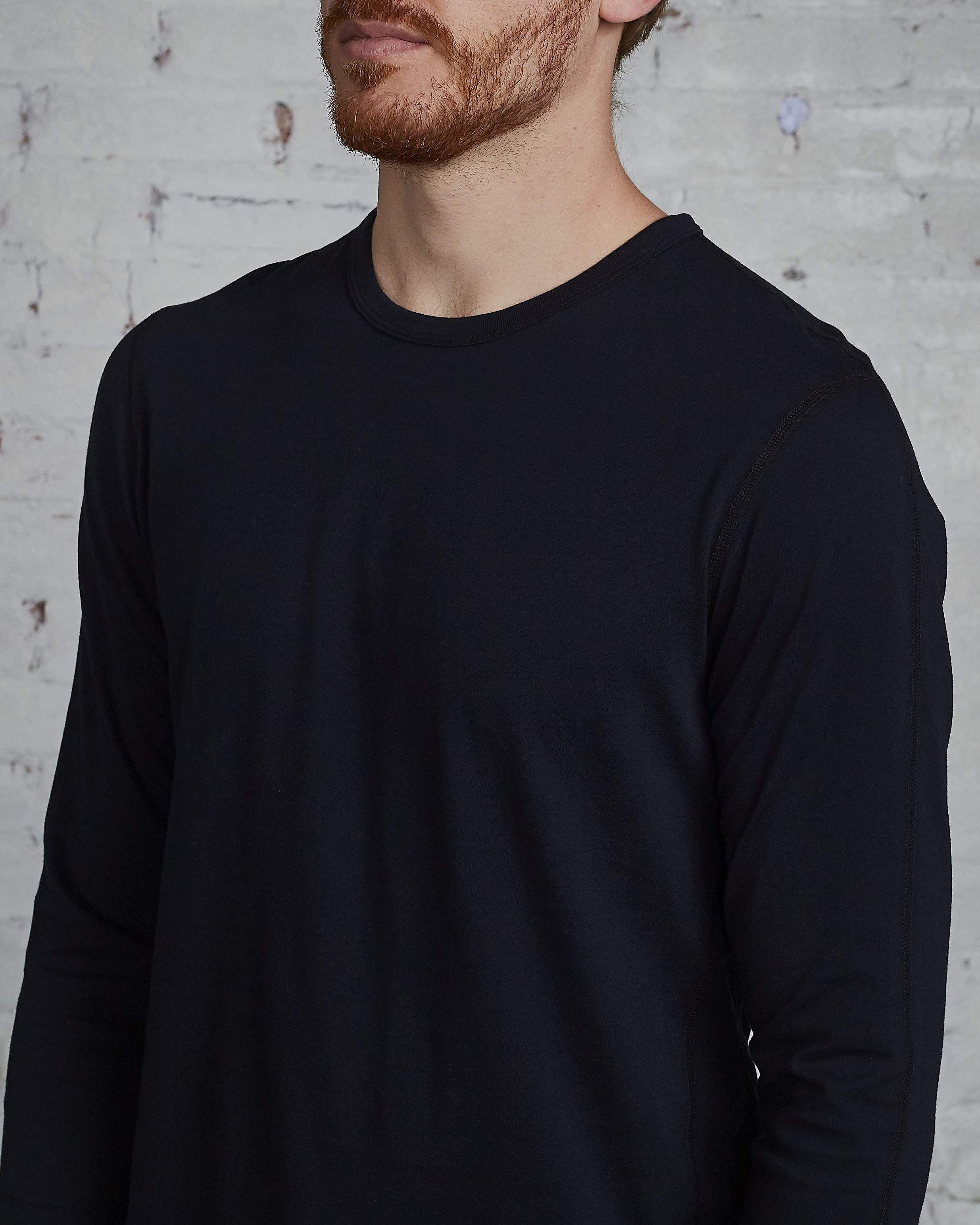 Reigning Champ Ringspun Long Sleeve T-Shirt Black
