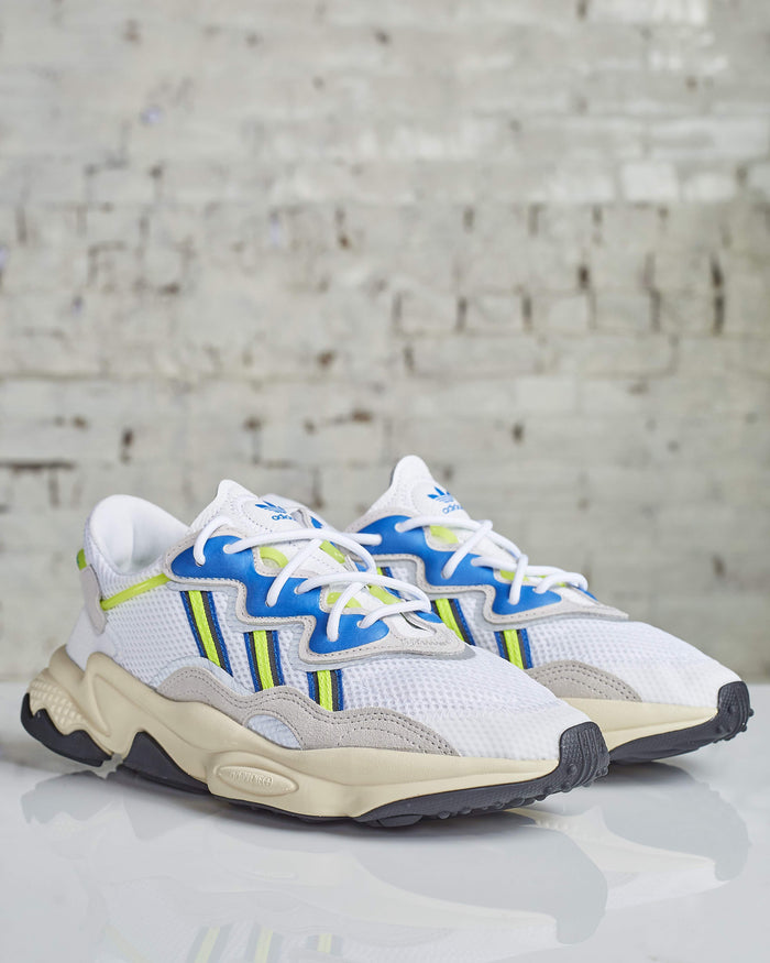 Adidas Ozweego White/Grey/Yellow-MENS SHOES-Adidas-LESS 17-Lessoneseven