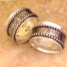 Spinner ring, Silver Spinner ring, Meditation Ring, Worry Ring, Spinning Ring