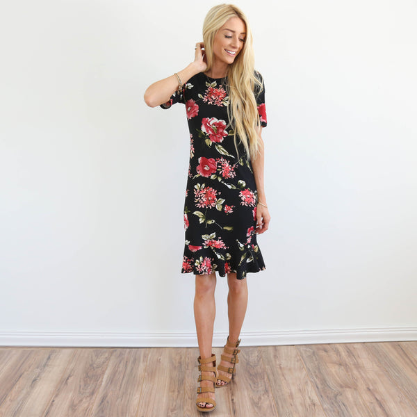 Perrie Floral Ruffle Dress