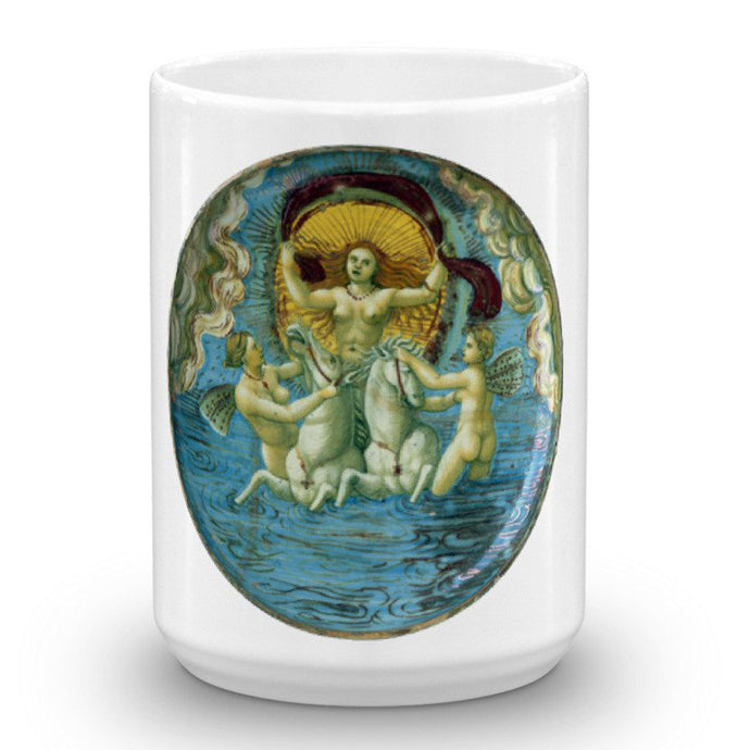 Aurora, Goddess of the Dawn, In Castel Durante & Maestro Giorgio Andreoli, 15-Oz. Mug