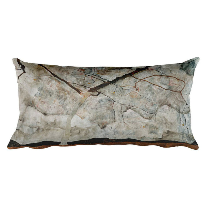 Autumn Tree in Stirred Air (Winter Tree), Egon Schiele, Rectangular Pillow