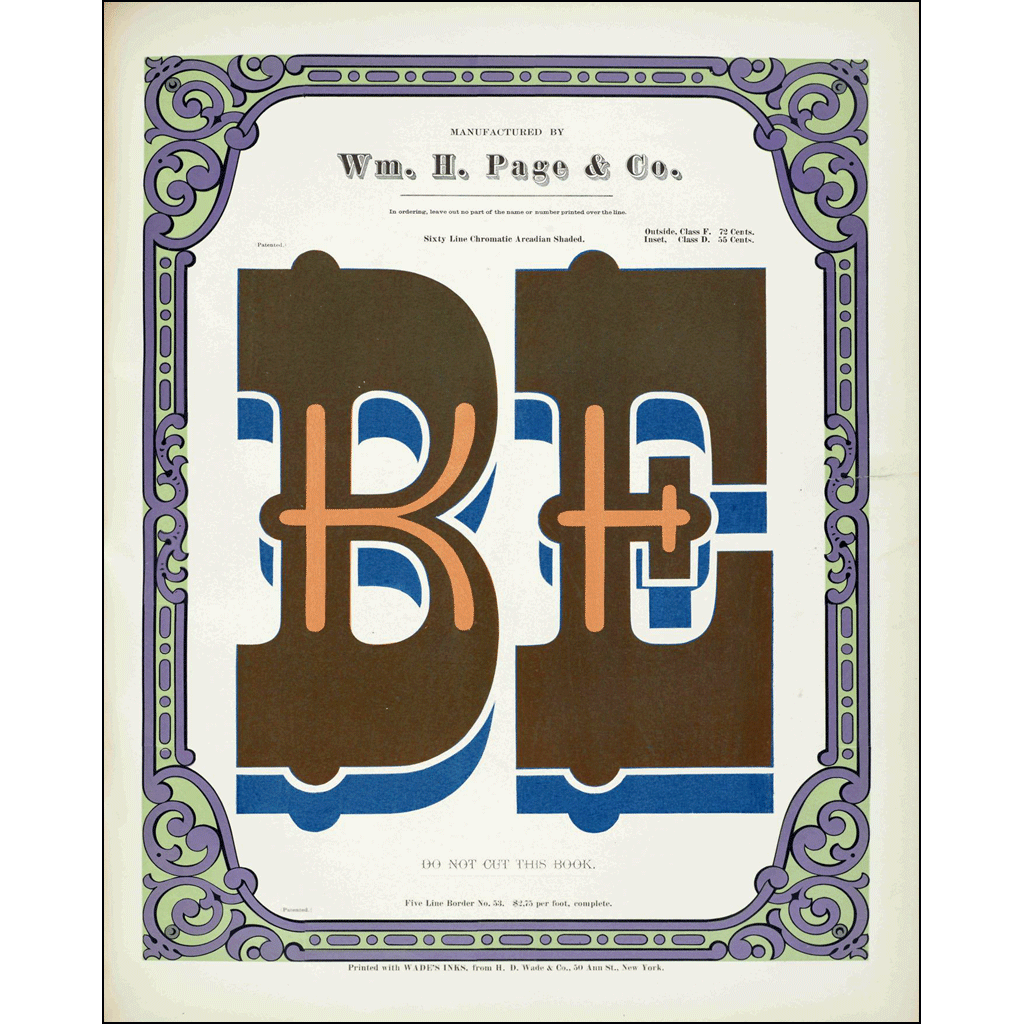 Be, William H. Page & Co., Poster