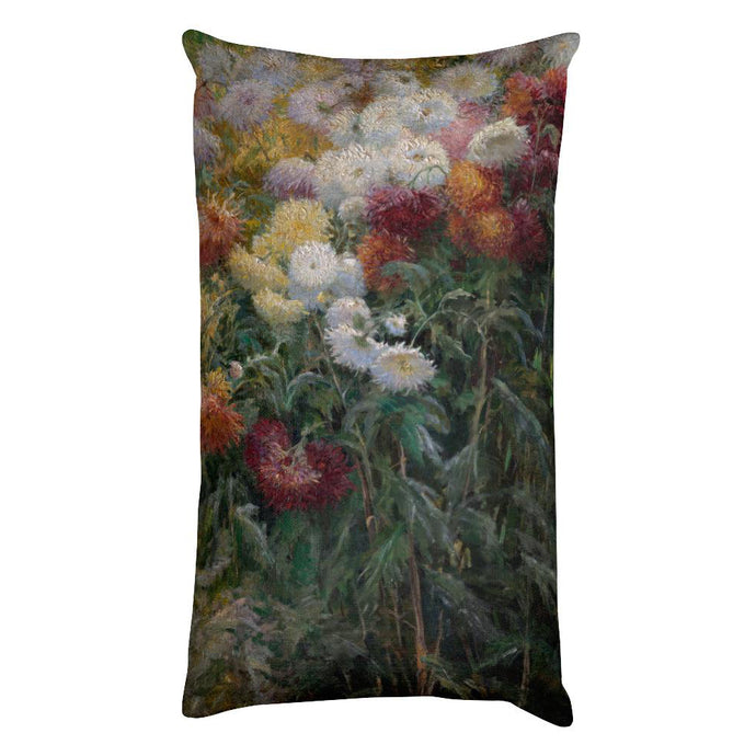 Chrysanthemums in the Garden at Petit-Gennevilliers, Gustave Caillebotte, Rectangular Pillow