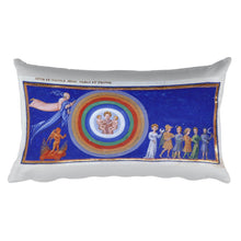 Encounter with Adam and the Seven Spheres of Man, Dante and Beatrice, Dante's Divine Comedy, Rectangular Pillow