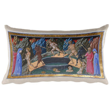 Entering the Fourth and Eighth Rings of Hell, Dante and Virgil, Dante's Divine Comedy, Rectangular Pillow