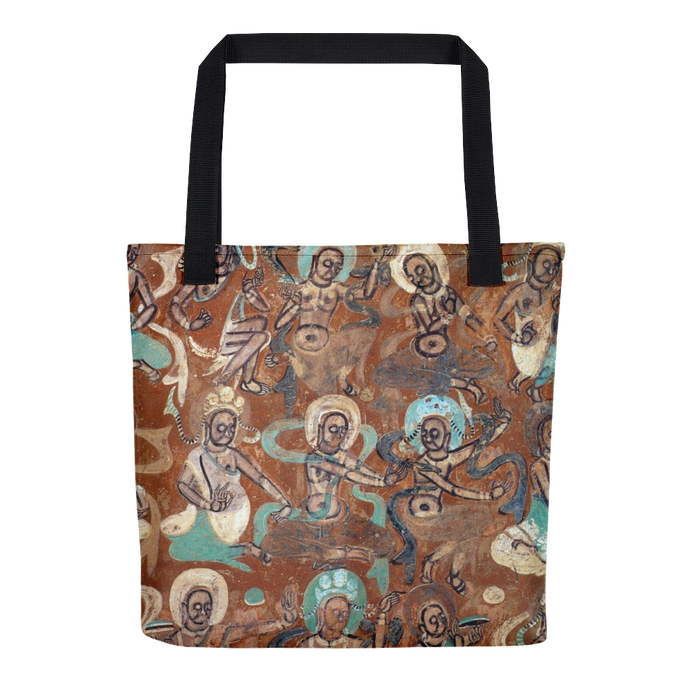 Thousand Buddhas Mural, Dunhuang Caves, Tote Bag