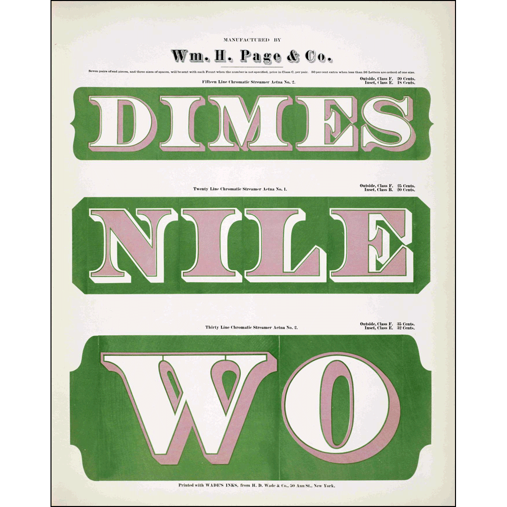 Dimes Nile Wo, William H. Page & Co., Poster