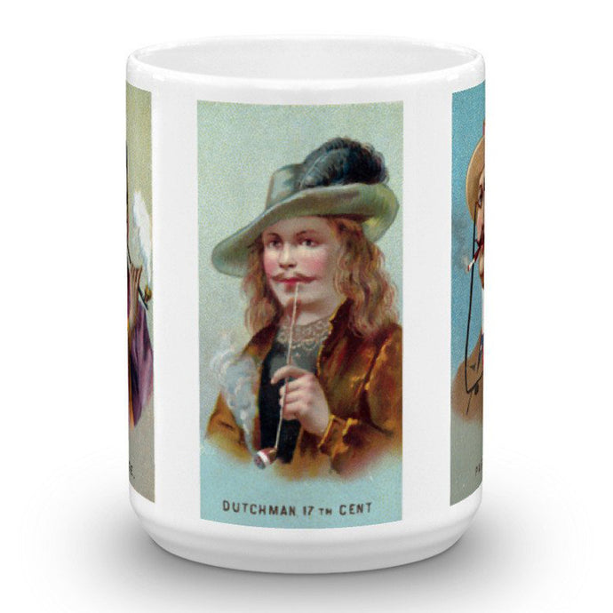 Chinese Parisian 17th-Century Dutchman, World's Smokers, Allen & Ginter, 15-Oz. Mug