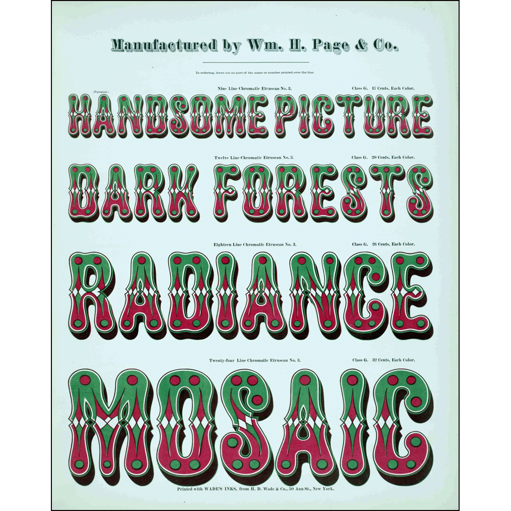 Handsome Picture Dark Forests, William H. Page & Co., Poster