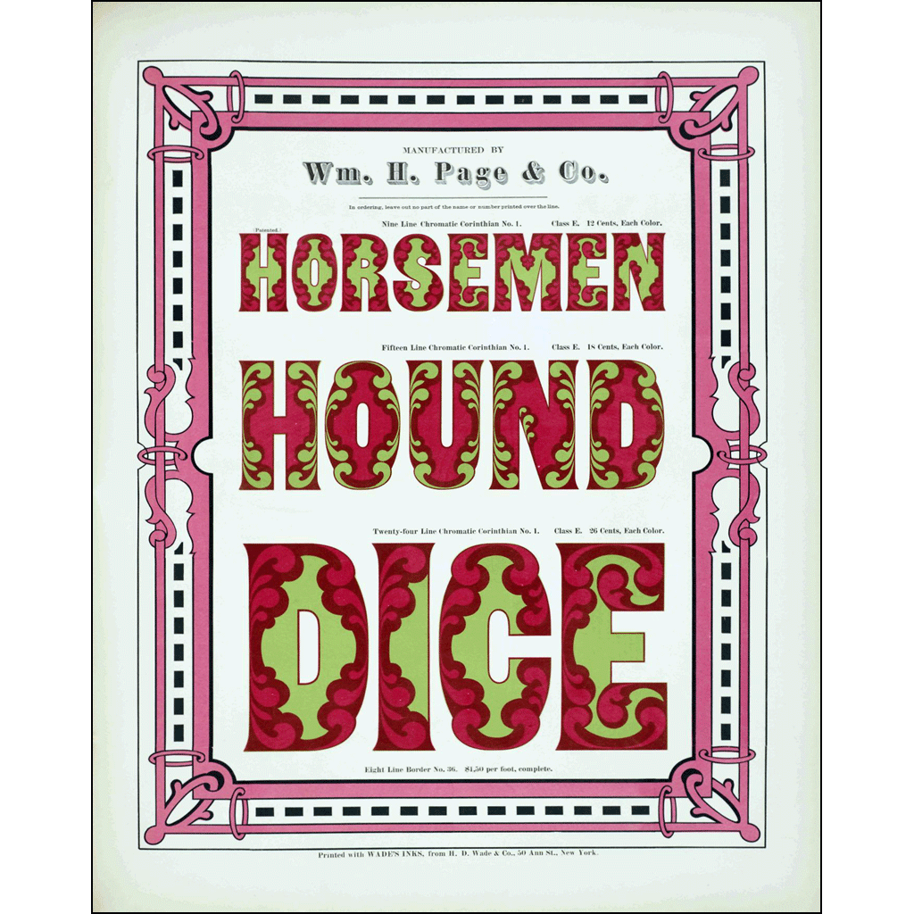 Horsemen Hound Dice, William H. Page & Co., Poster