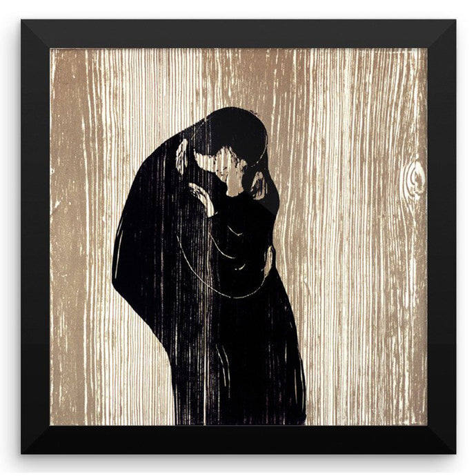 The Kiss IV, Edvard Munch, Framed Poster