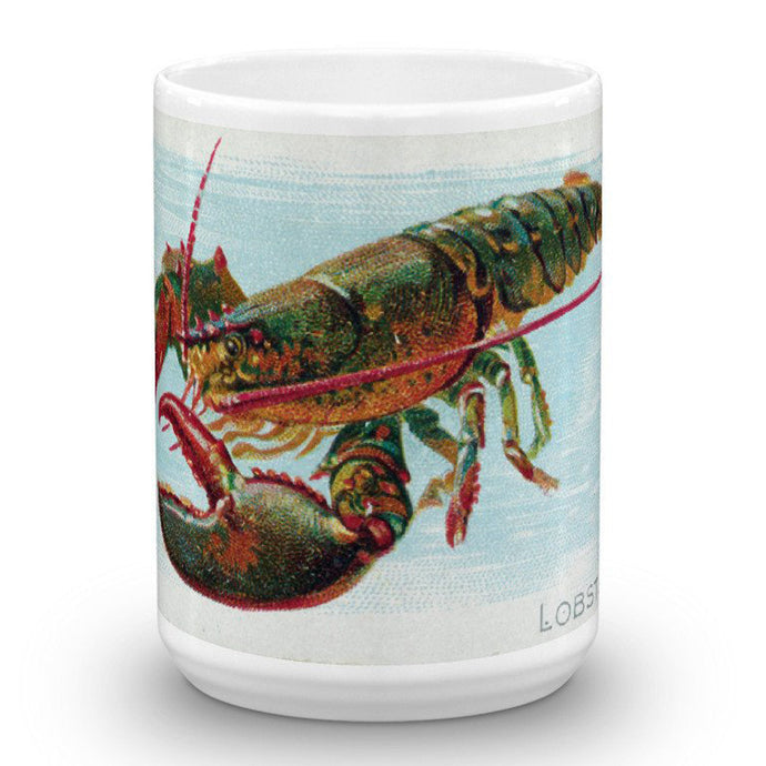 Lobster, Fish from American Waters, Allen & Ginter, 15-Oz. Mug
