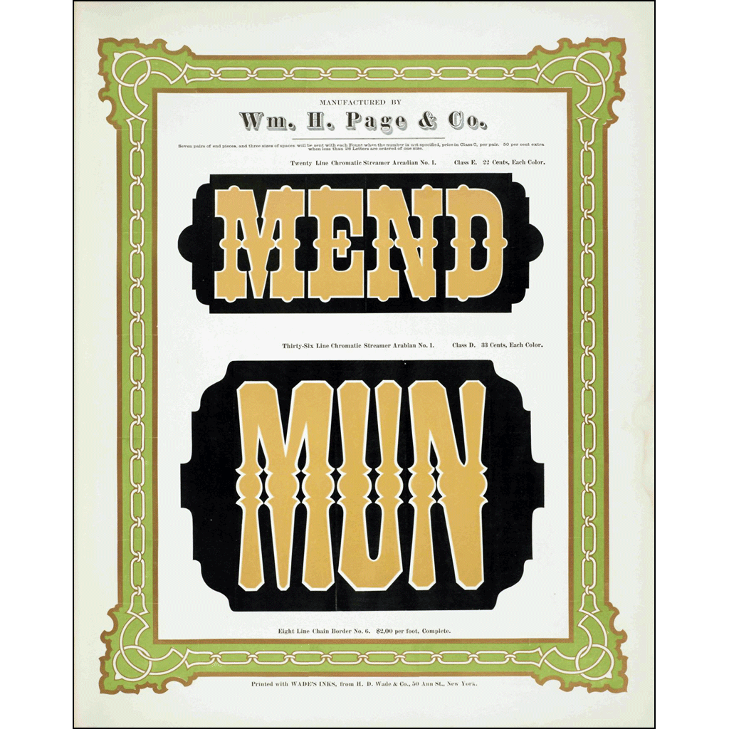 Mend Mun, William H. Page & Co., Poster