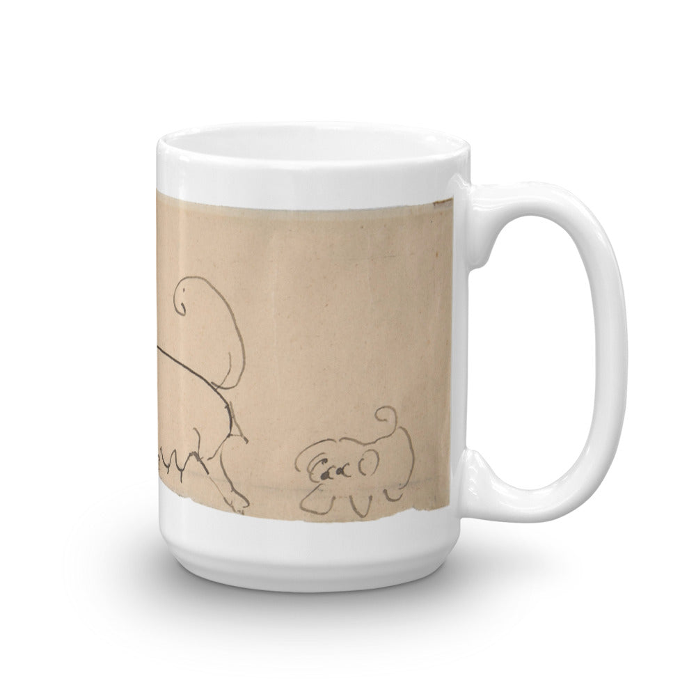 Two Dogs, Henri de Toulouse-Lautrec, 15-Oz. Mug