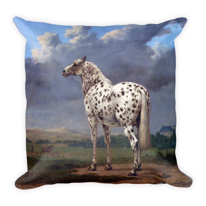 The Piebald Horse, Paulus Potter, Square Pillow