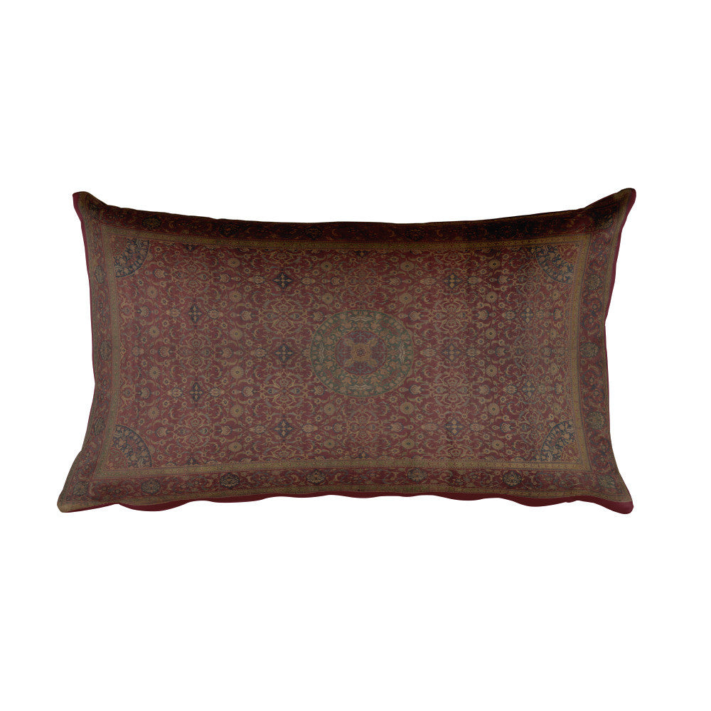 Intricate Egyptian Carpet, Rectangular Pillow