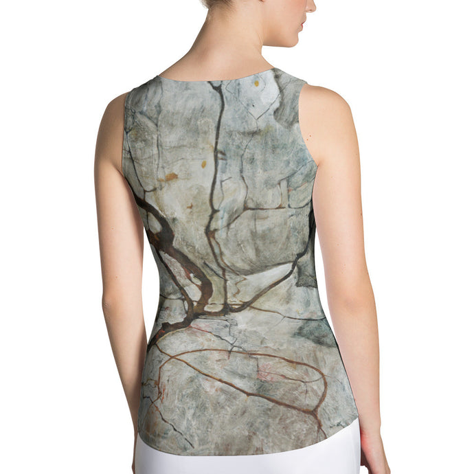 Autumn Tree in Stirred Air (Winter Tree), Egon Schiele, Tank Top