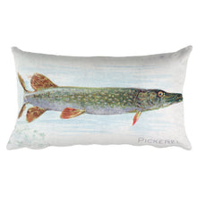 Blowfish and Pickerel, Fish from American Waters, Allen & Ginter, Rectangular Pillow