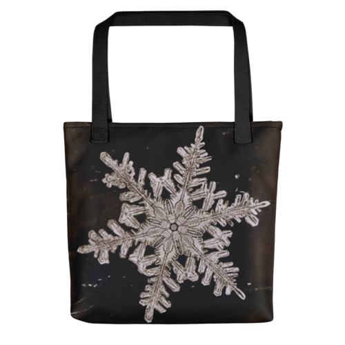 Snow Crystal, Wilson Alwyn Bentley, Tote Bag