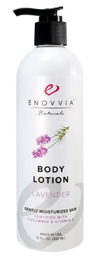 Enovvia Natural Body Lotion Lavender - 12 oz - Front