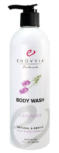 Enovvia Natural Lavender Body Wash - 12 oz - Front