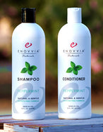 Enovvia Natural Peppermint Shampoo and Conditioner Bundle - Sulfate-Free