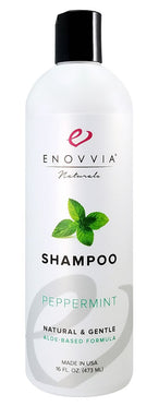 Enovvia Natural Peppermint Shampoo - 16 oz - Front