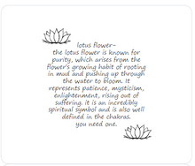 Load image into Gallery viewer, lotus - little inspirations