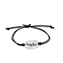 Load image into Gallery viewer, #metoo - small intentions silver bracelet- daVoria jewelry, jewellery stores