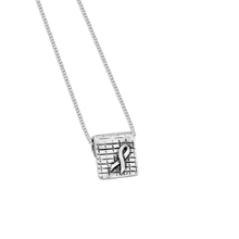 Load image into Gallery viewer, aware - little inspirations silver necklace - daVoria jewelry-silver bracelet-  we make personalized silver jewellerey
