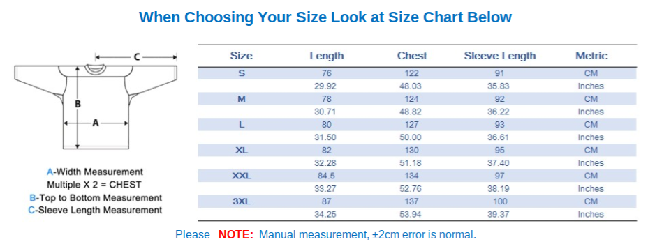 Cm To Inches Chart Sizing Jimmys Jerseys