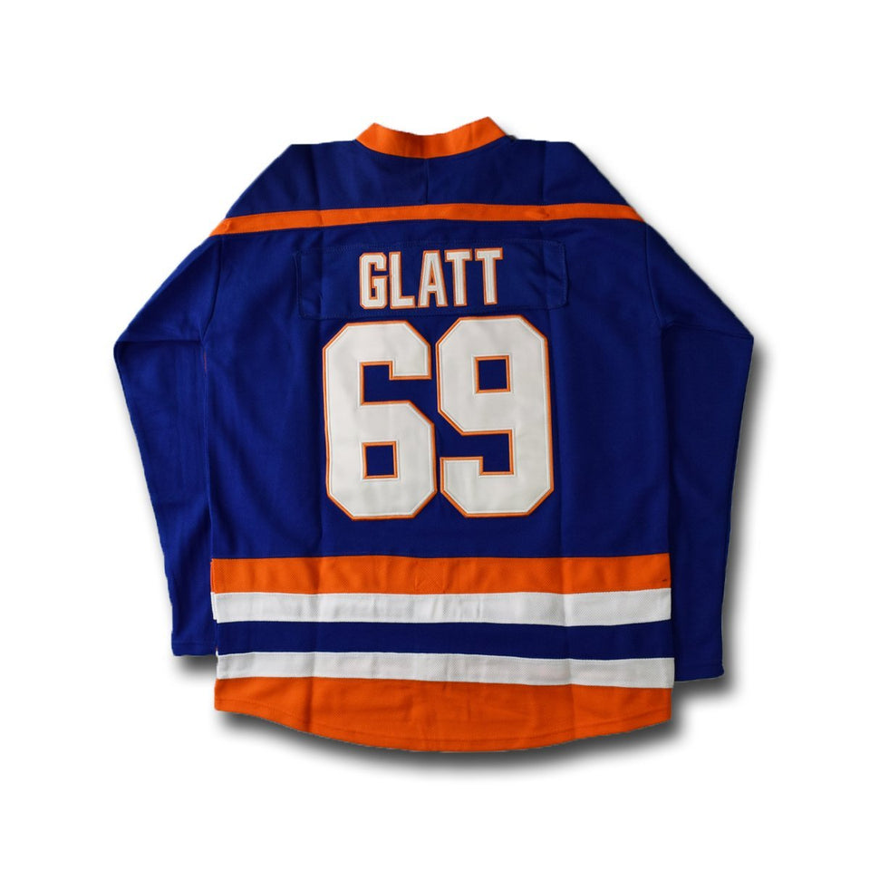 Doug Glatt 69 Blue Hockey Jersey - Jimmys Jerseys