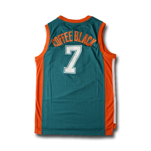 Coffee Black 7 Flint Tropics Green Basketball Jersey - Jimmys Jerseys