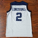Lonzo Ball 2 Chino Hills High School Basketball Jersey Stitched Gray