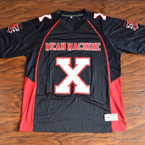 Bill Goldberg Joey Battle Battaglio X Mean Machine Football Jersey Stitched Black