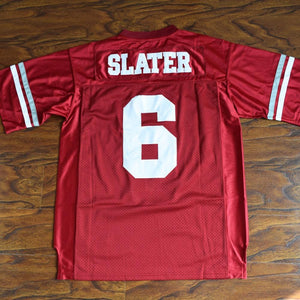 AC Slater 6 Bayside Football Jersey Stitched Red - Saved By The Bell - Jimmys Jerseys