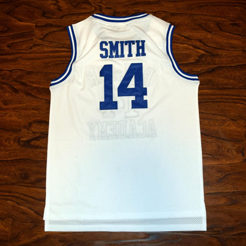 deace937a85 Will Smith 14 Bel-Air Academy Basketball Jersey White - Jimmys Jerseys