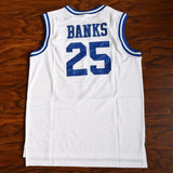 Carlton Banks 25 Bel-Air Academy Basketball Jersey White