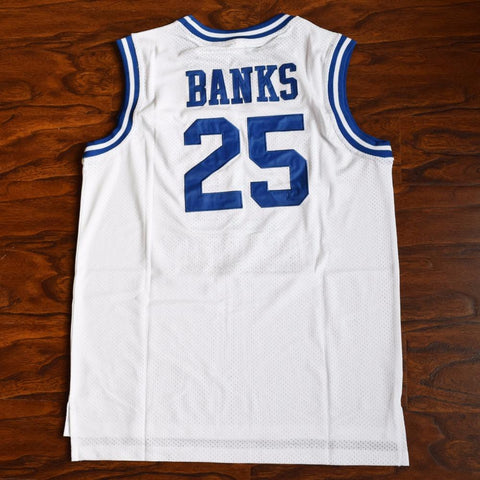 Carlton Banks 25 Bel-Air Academy Basketball Jersey White - Jimmys Jerseys