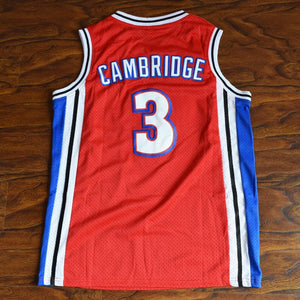 Calvin Cambridge 3 Knights Basketball Jersey Stitched Red Like Mike - Jimmys Jerseys