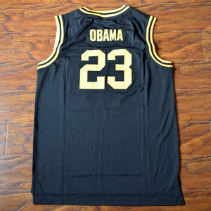 Barack Obama 23 Punahou High Basketball Jersey Black - Jimmys Jerseys