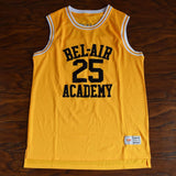 Carlton Banks 25 Bel-Air Academy Basketball Jersey Yellow