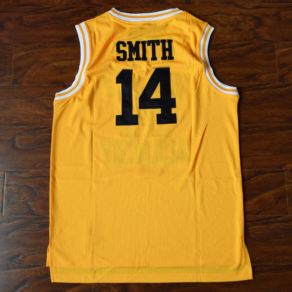 47e44e777653 Will Smith  14 Bel-Air Academy Basketball Jersey Fresh Prince Stitched  Yellow - Jimmys