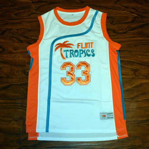 Moon #33 Flint Tropics White Basketball Jersey - Jimmys Jerseys